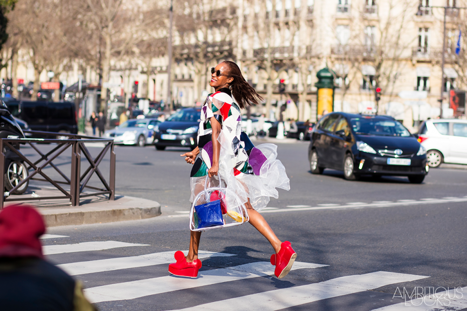 Michelle Elie Miu Miu Street Style in PFW AW15 by Ambitious Looks