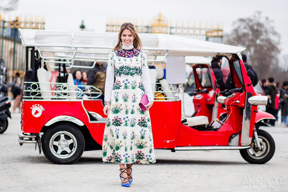 Helena Bordon at Valentino AW15 Street Style by Ambitious Looks PFW