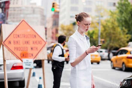 Rianne von Rompaey at NYFW SS16 Jason Wu Street Style Ambitious Looks