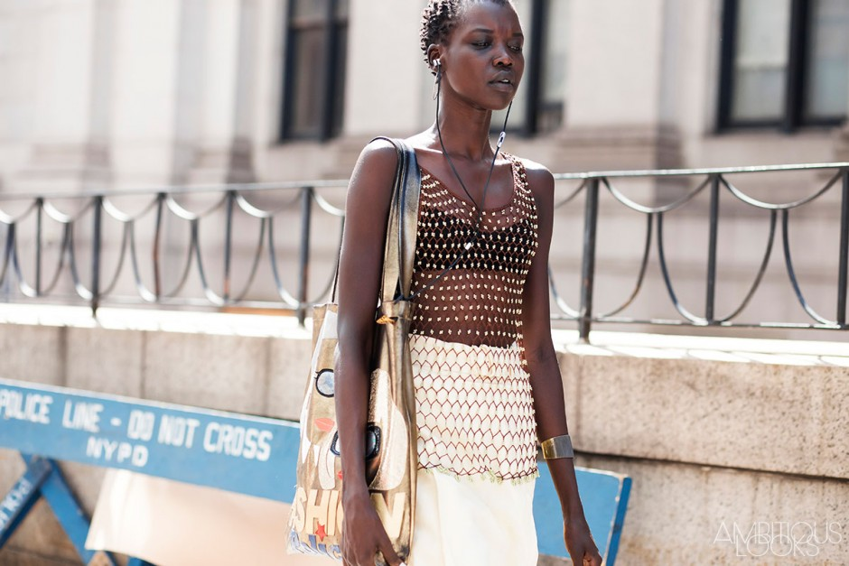 Nykhor Paul at NYFW SS16 Public School Street Style by Ambitious Looks
